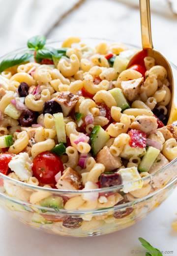 Italian Chicken Pasta Salad