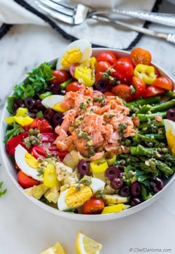 Grilled Salmon Niçoise Salad