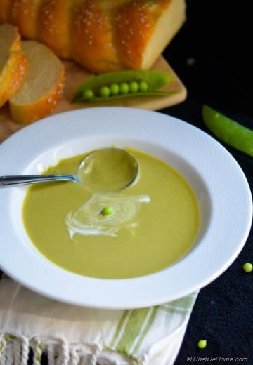 Spring Green Pea Soup - Vegan and Gluten Free