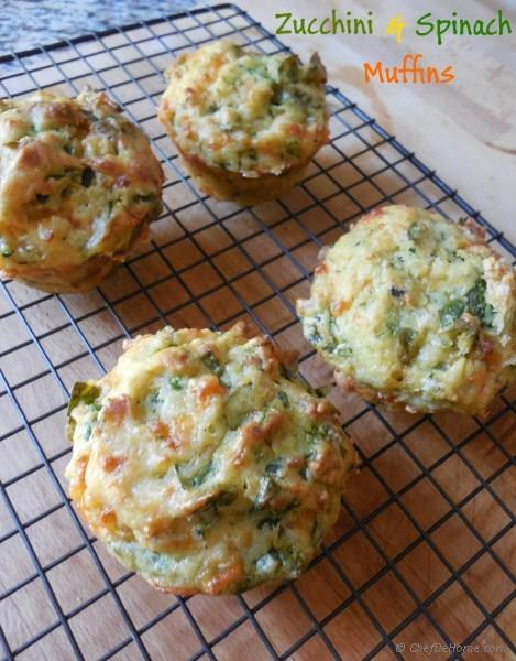 Zucchini and Spinach Muffins