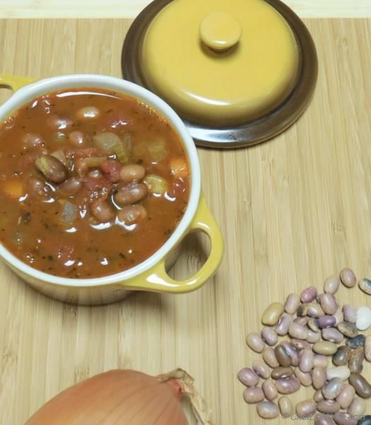 Pebble Beans and Roasted Tomato Soup