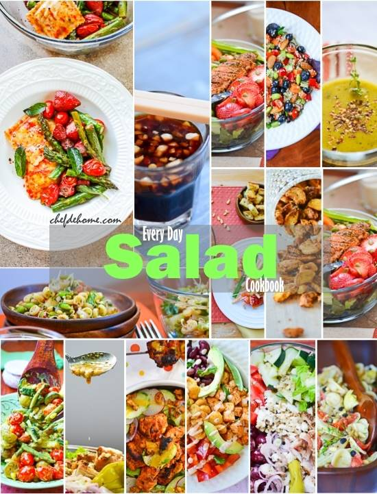Every Day Salad Cookbook by Savita ChefdeHome.com
