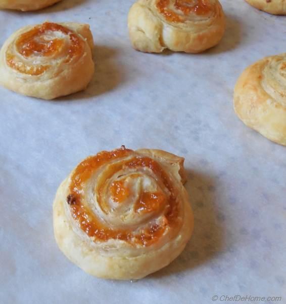 Mango Chutney and Cream Cheese Pin Wheels