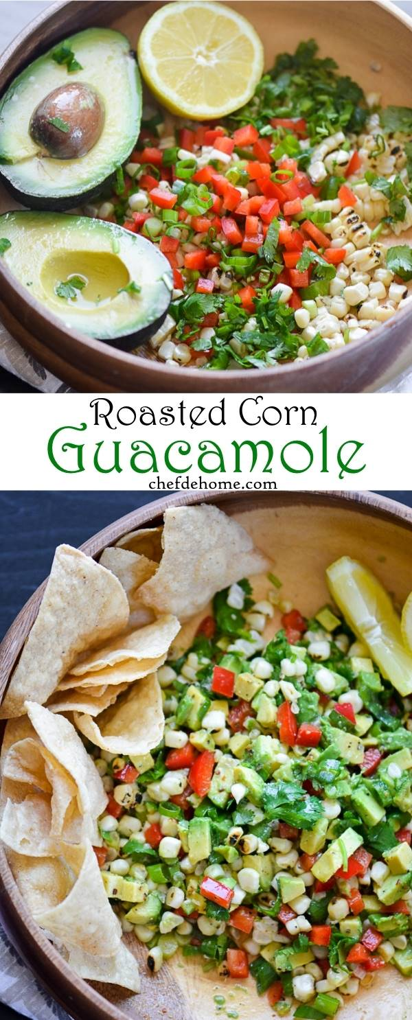 tomatillo guacamole roasted corn red pepper guacamole guacamole ...