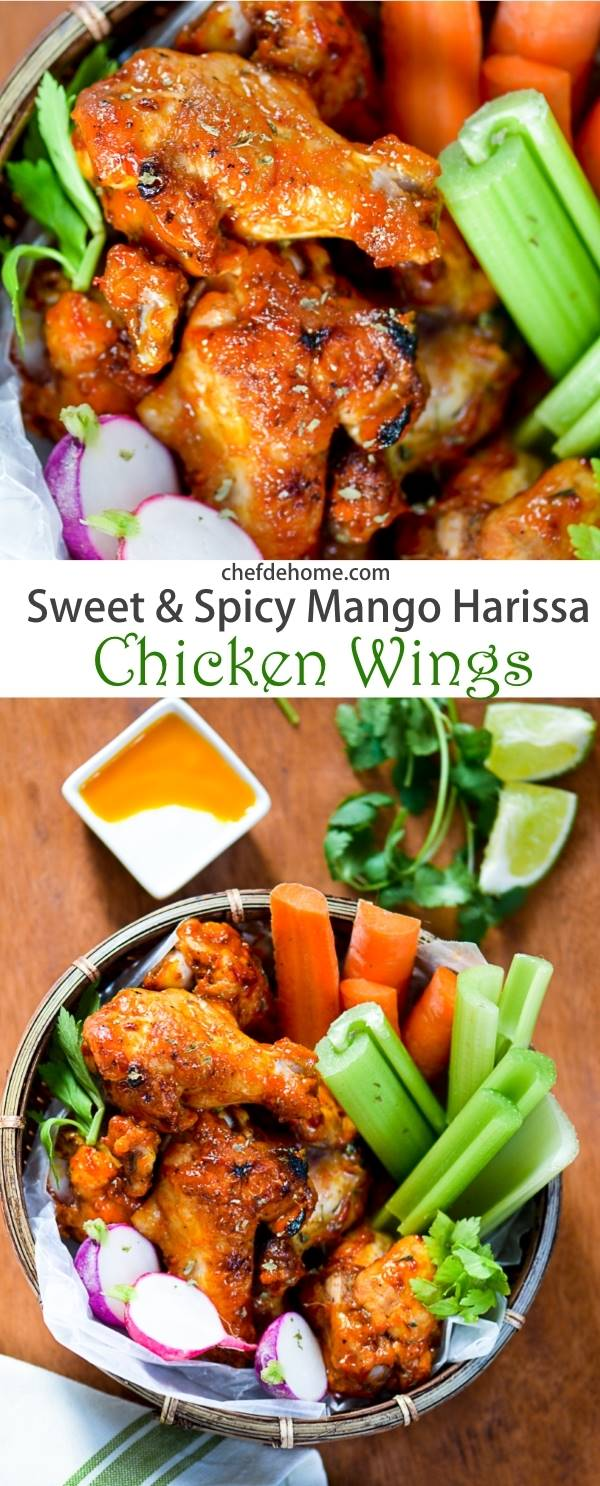 Sweet And Spicy Mango Harissa Chicken Wings Recipe Chefdehome Com