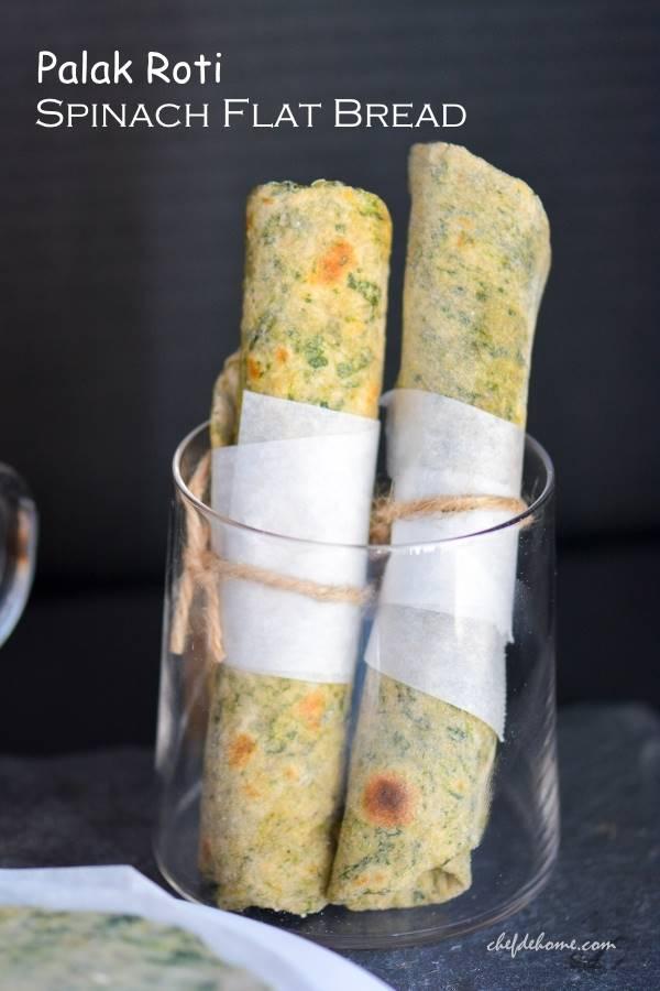 DIY | Freezer Ready Spinach Flat Bread | Indian Palak Roti