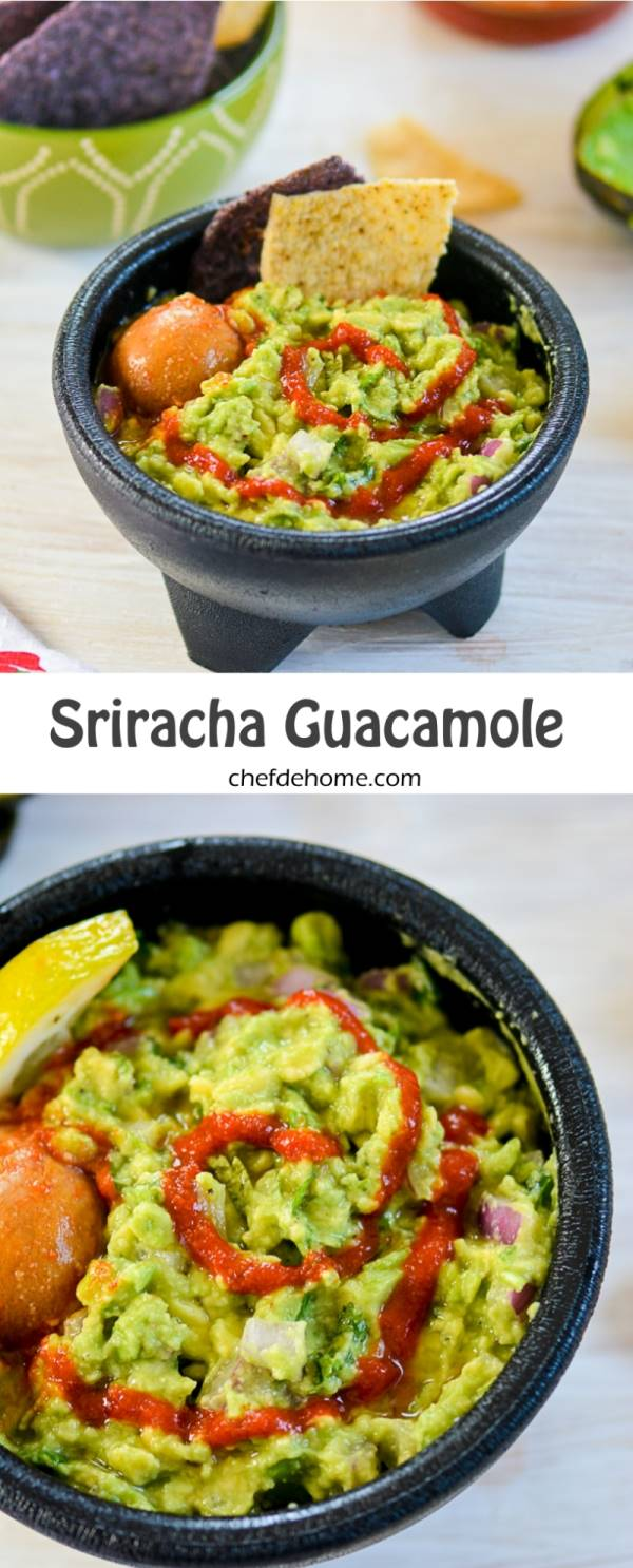 Sriracha Guacamole Recipe | ChefDeHome.com