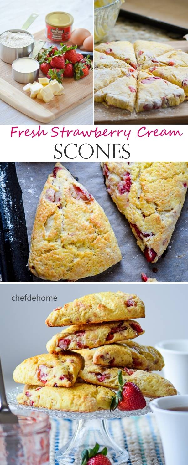 Fresh Strawberry and Cream Scones for Mothers Day Breakfast