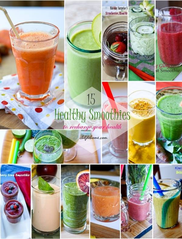 15 Healthy Smoothies to Get Your Diet Back on Track