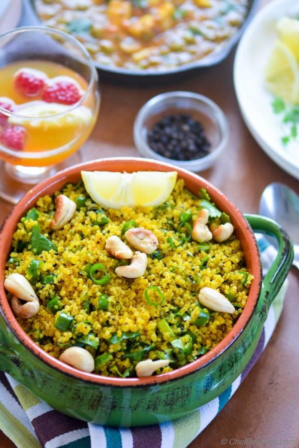 Vegan Healthy and Delicious Curry Lemon Quinoa | chefdehome.com