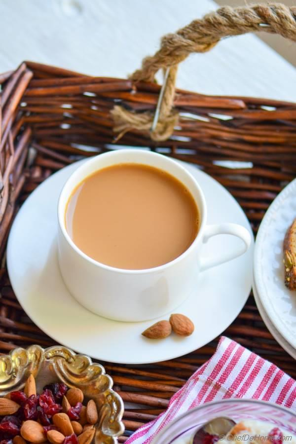 Spiced Ginger Chai Tea with Milk