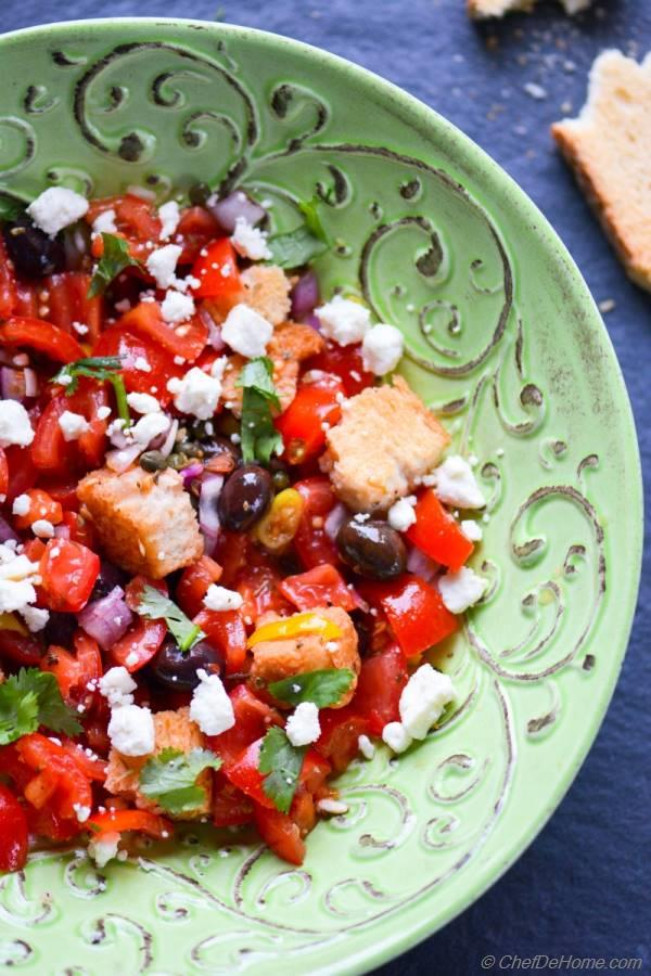 Greek Dakos Salad packed with delicious flavors from Greek