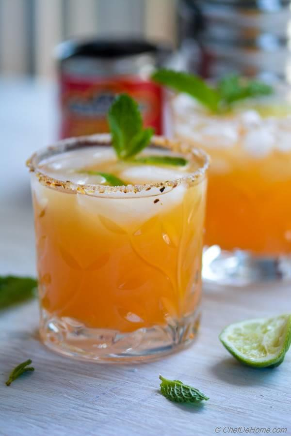 Refreshing with little heat of Adobo - Orange Adobo Margarita for Cinco De Mayo party | chefdehome.com