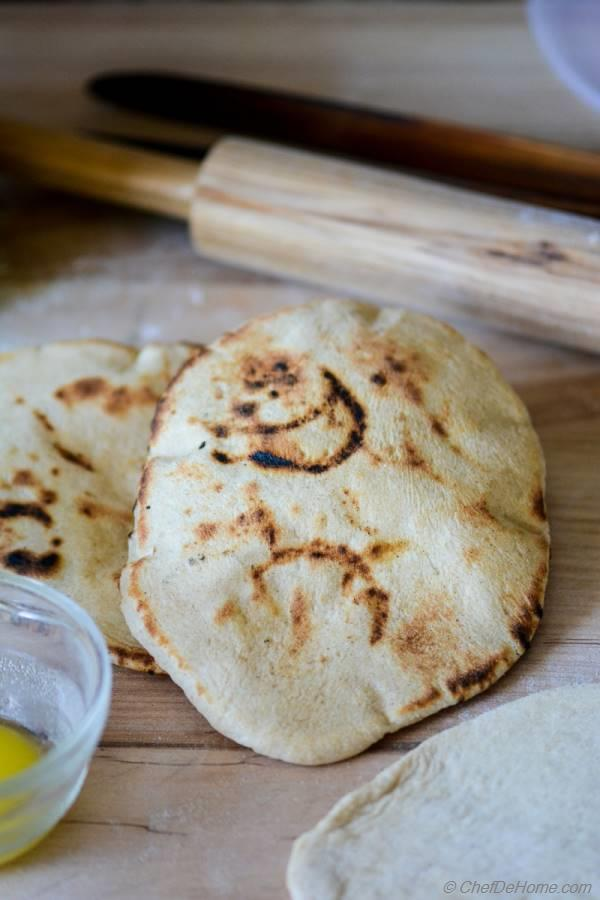 Making of Homemade Butter Naans | chefdehome.com