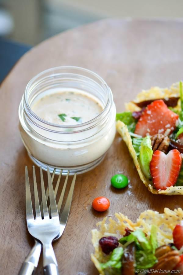 Single cream salad dressing