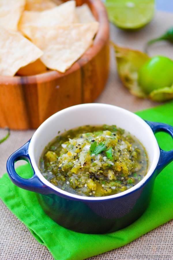 Fire Roasted Tomatillo Salsa - My other Chipotle Mexican ...