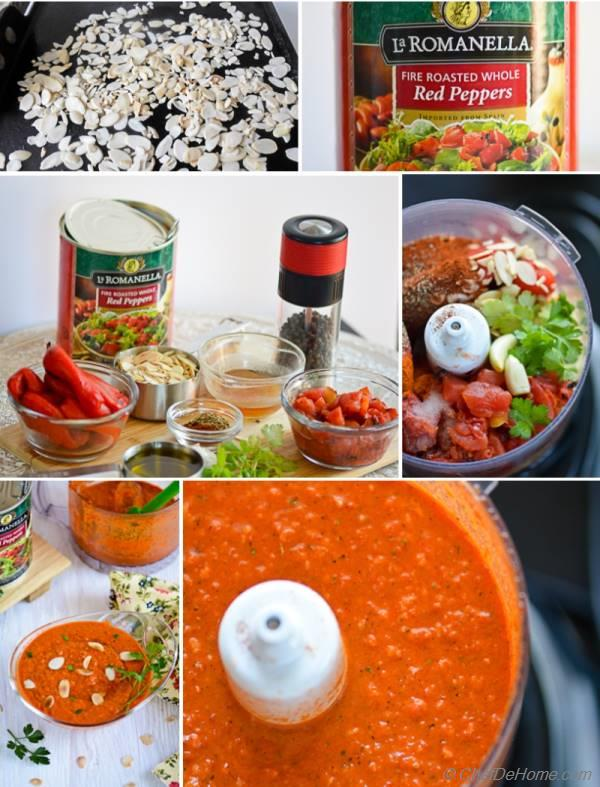 Roasted Red Pepper Romesco Sauce to serve with Grilled Meats | chefdehome.com