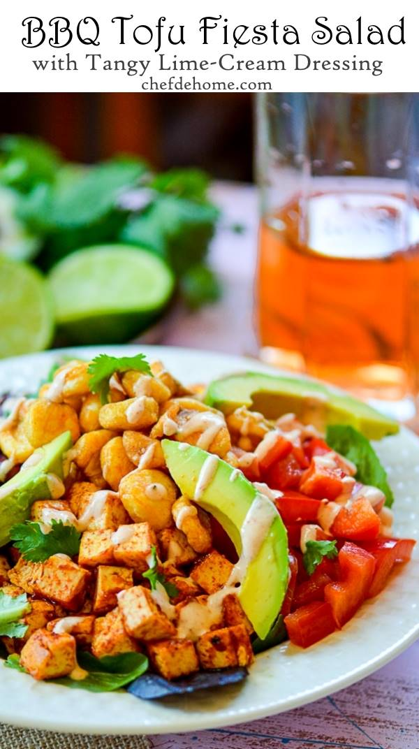 Spicy, Crisp Tofu On Mint-Avocado Salad Recipe — Dishmaps