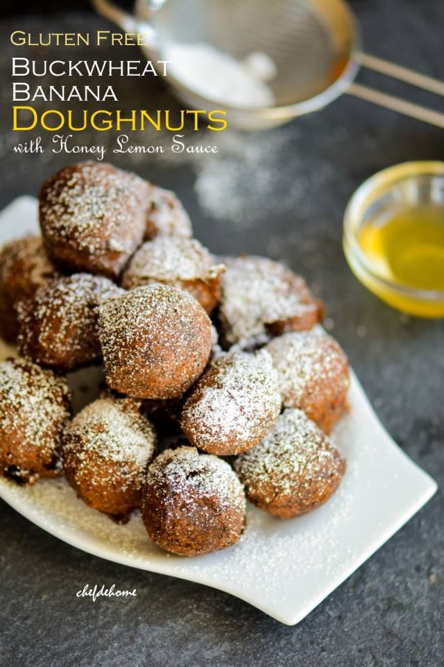 Gluten Free Buckwheat Banana Doughnuts Recipe | ChefDeHome.com