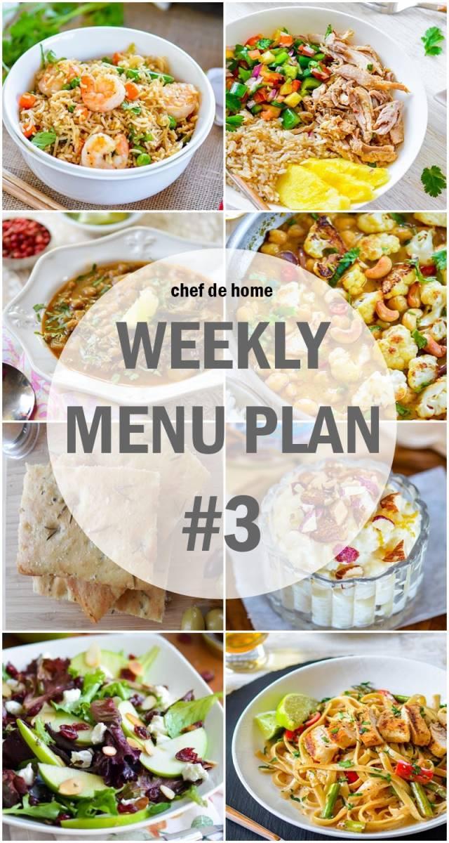 Weekly Meal Menu Plan - 3