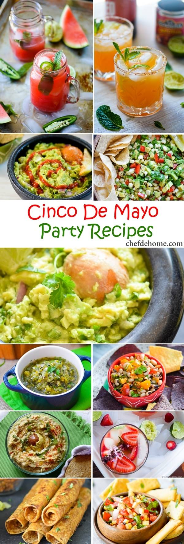 Easy Mexican Fiesta - Cinco De Mayo Party Recipes