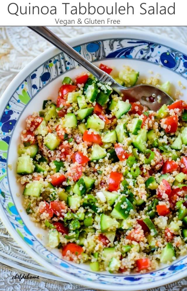 Quinoa Tabbouleh Salad {Vegan, GF} by Savita ChefDeHome | Epicurious ...