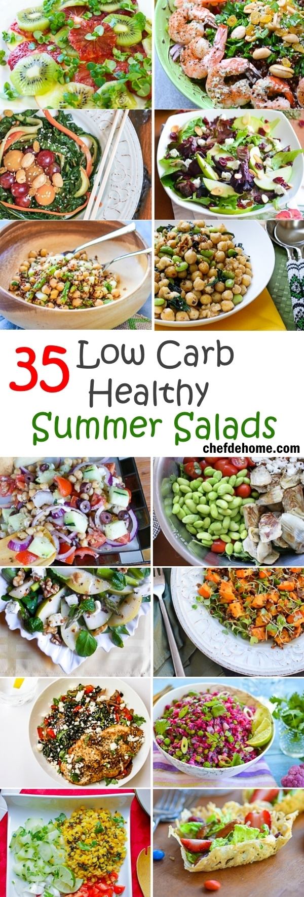 35 Low-Carb Healthy Summer Salads