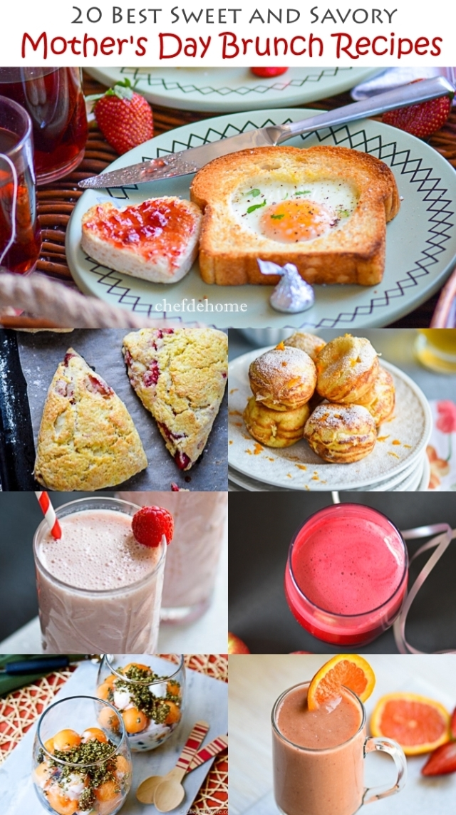 sweet and savory mother's day brunch recipes meals | chefdehome