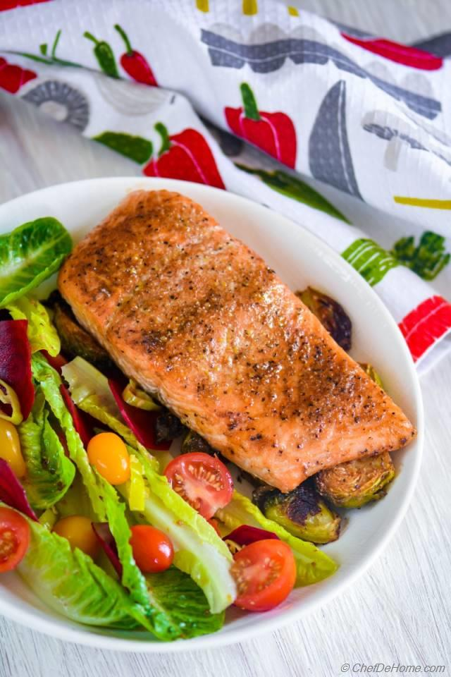 Cedar Plank Salmon with Beets Salad Recipe | ChefDeHome.com