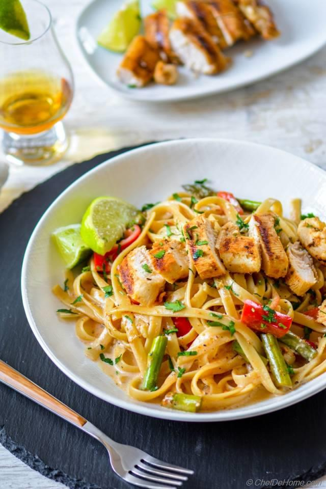 chicken tequila fettuccine tequila lime marinated juicy chicken creamy ...