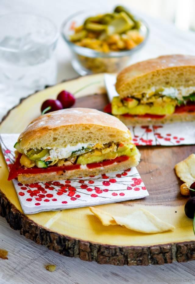 Grilled Vegetables and Smashed Chickpeas Sandwich Recipe ...