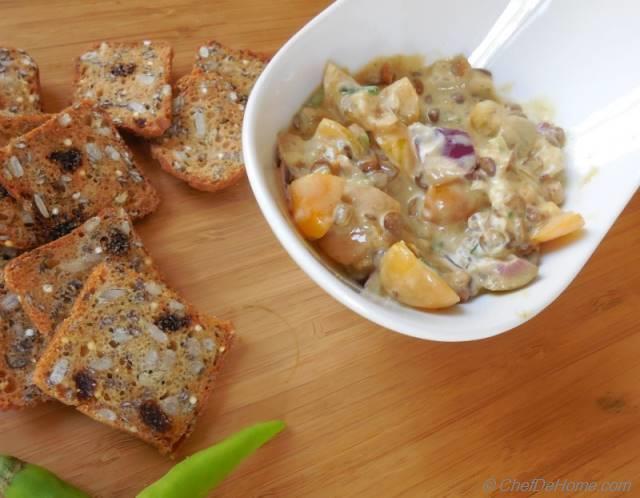 Creamy Tangy Lentil Dip Recipe | ChefDeHome.com