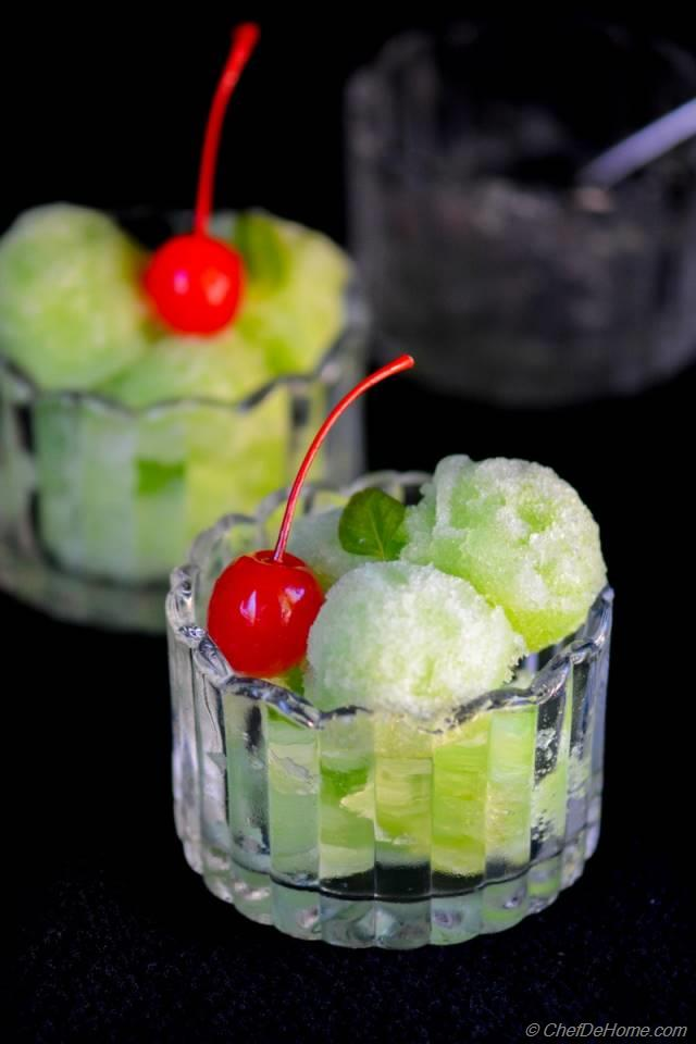 Cucumber, Lime and Basil Sorbet Recipe | ChefDeHome.com