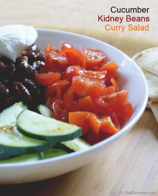 Curried Kidney Beans, Carrots and Cucumber Salad Recipe | ChefDeHome ...