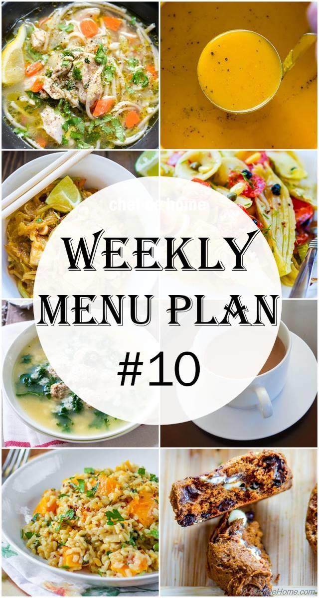 weekly meal menu plan 10 meals chefdehome com