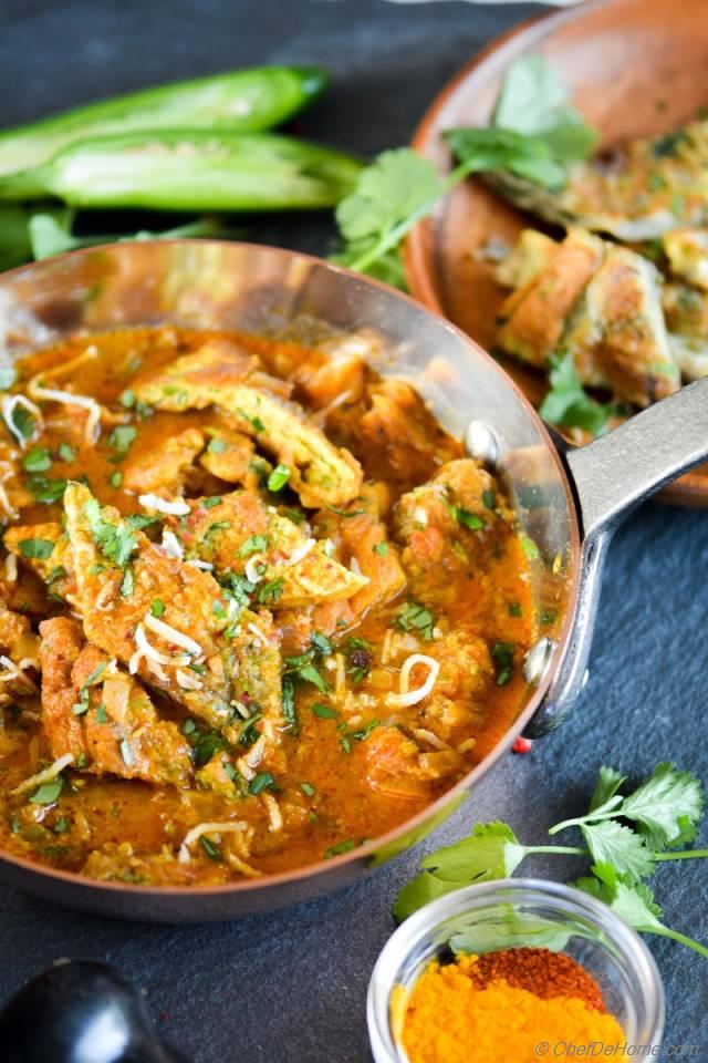 Indian Omelet Masala Egg Curry Recipe | ChefDeHome.com