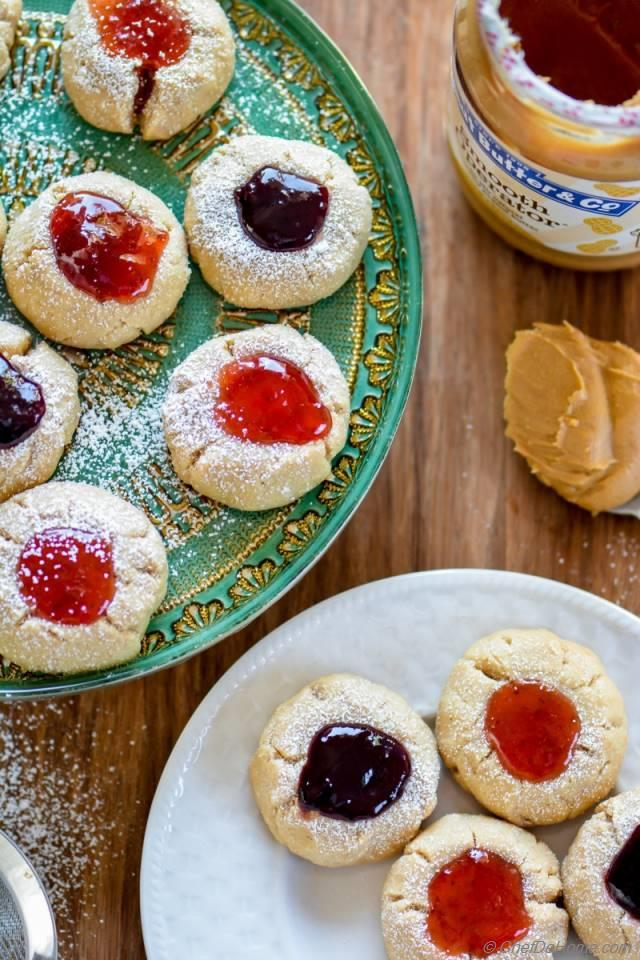 Peanut Butter and Jelly Thumbprint Cookies Recipe | ChefDeHome.com