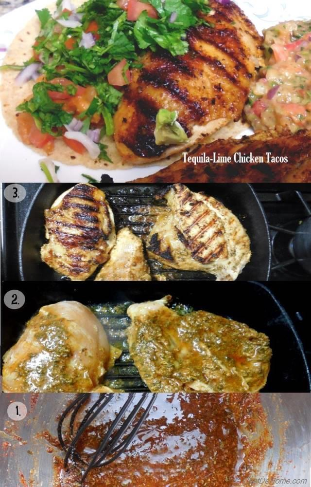 Grilled Tequila-Lime Chicken Tacos Recipe | ChefDeHome.com