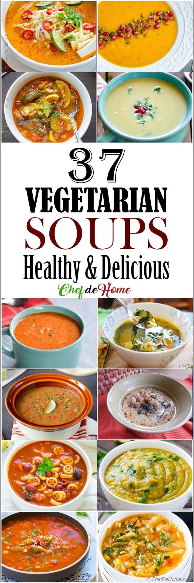 37 Vegetarian Soup Recipes