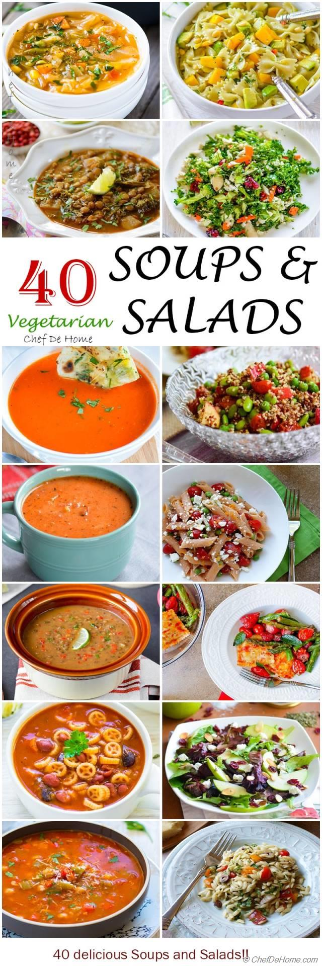 40 Vegetarian Soup and Salad Recipes