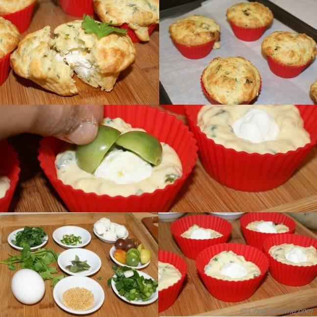 Savory Breakfast Chickpea Muffins
