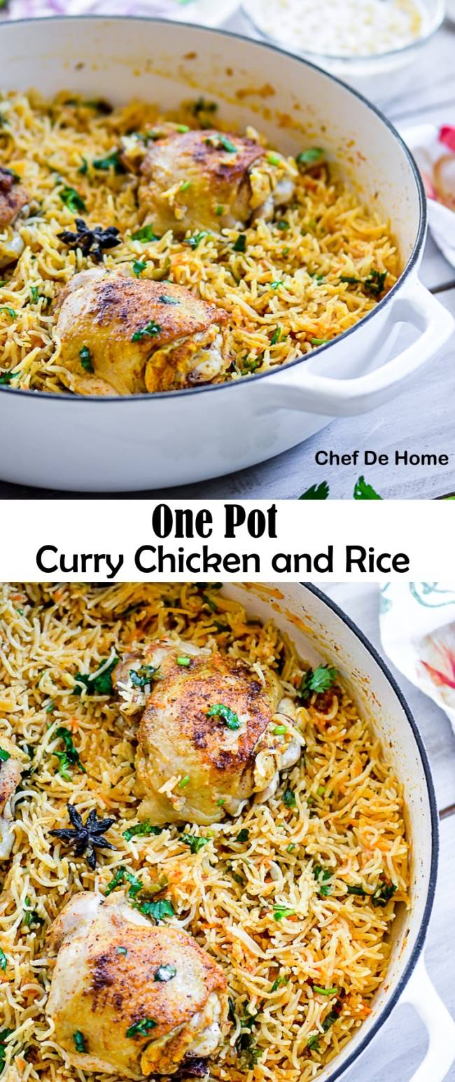 One Pot Indian Curry Chicken with Rice | chefdehome.com