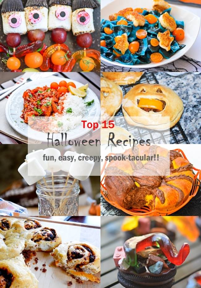 top 15 halloween party recipes fun creepy easy entertaining meals chefdehomecom