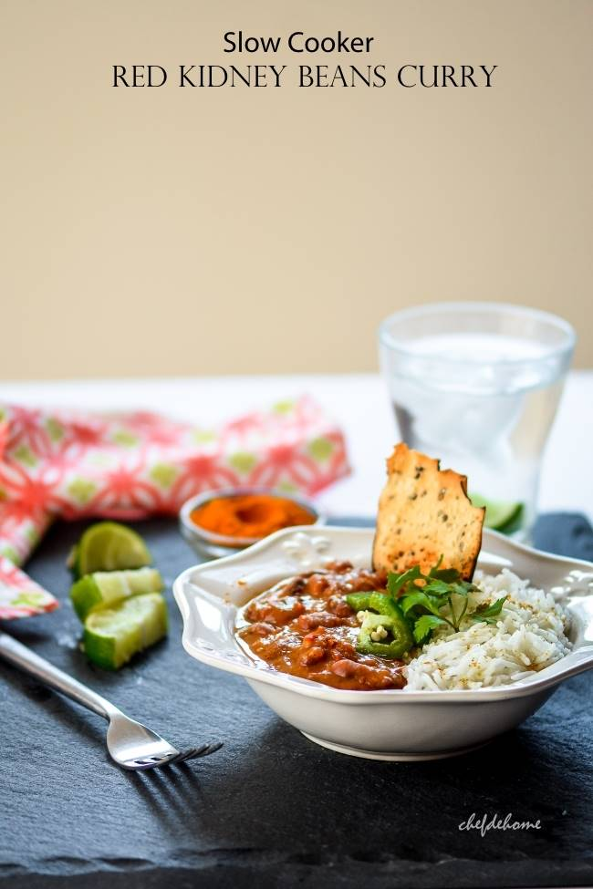 Creamy Slow Cooker Beans Curry
