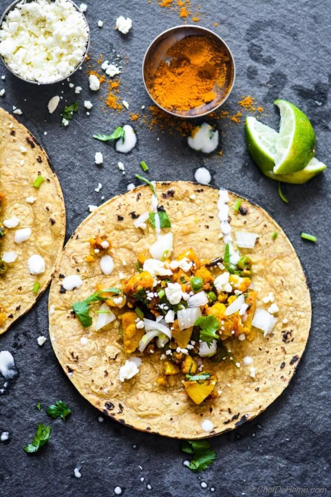 Curry masala cauliflower tacos recipe chefdehome forumfinder Choice Image