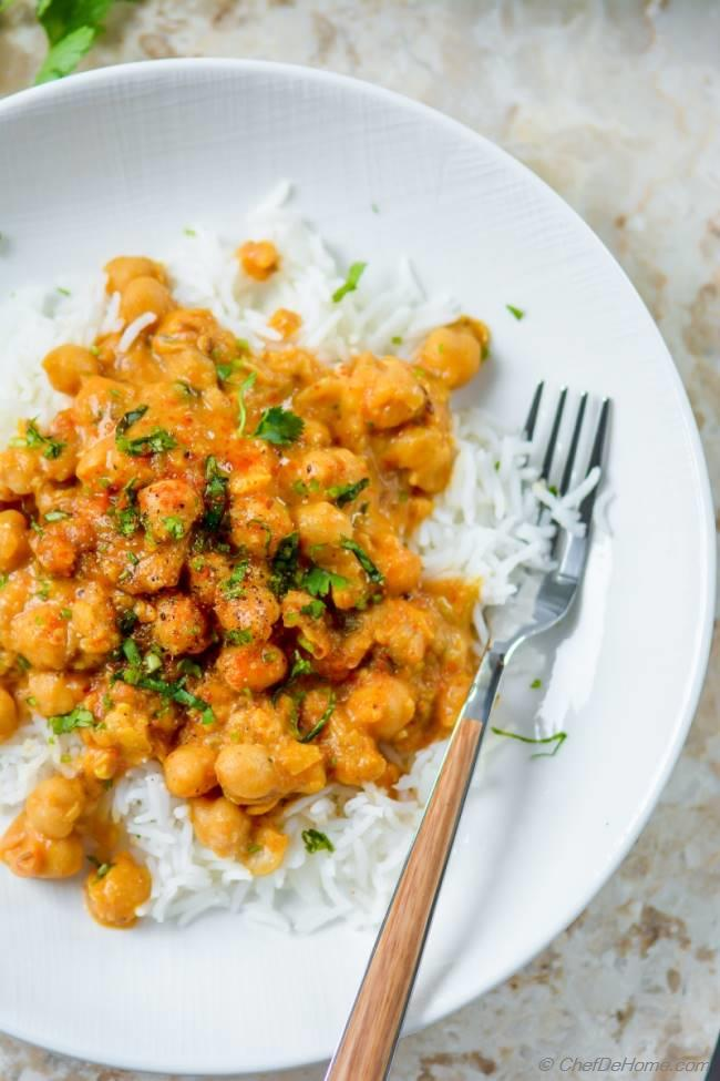 Easy chickpea curry with basmati rice recipe chefdehome forumfinder Gallery