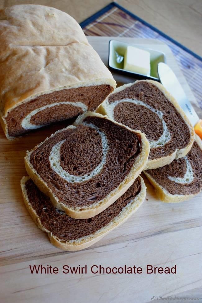 White Swirl Chocolate Breakfast Bread