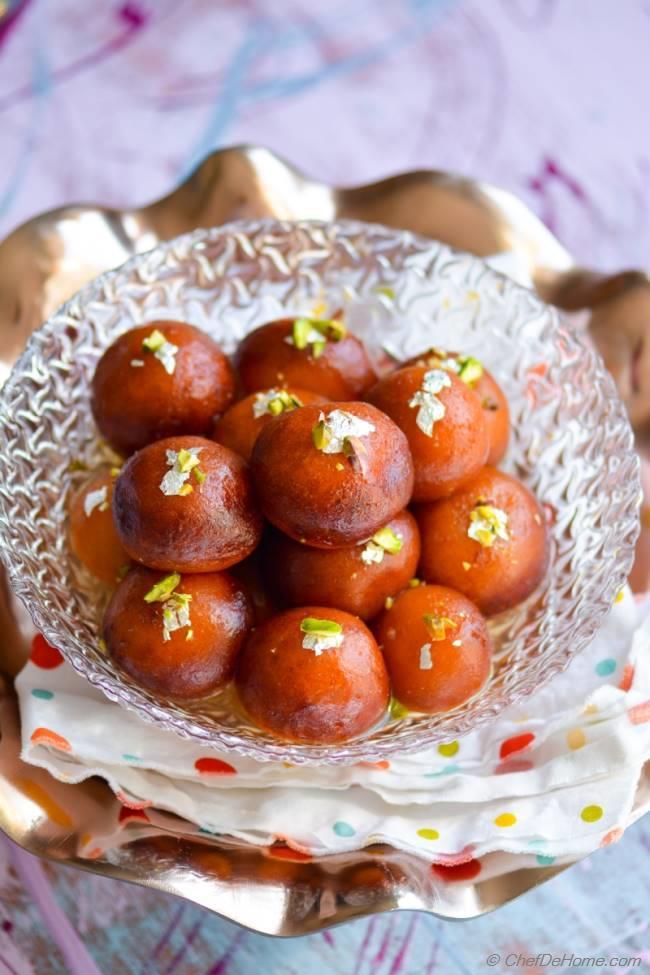 Easy Indian Gulab Jamun With Milk Powder Recipe