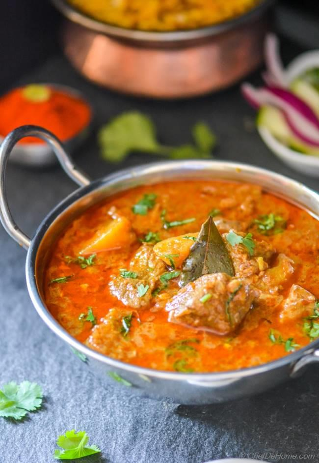 Lamb Rogan Josh Indian Kashmiri Muttonlamb Curry Recipe