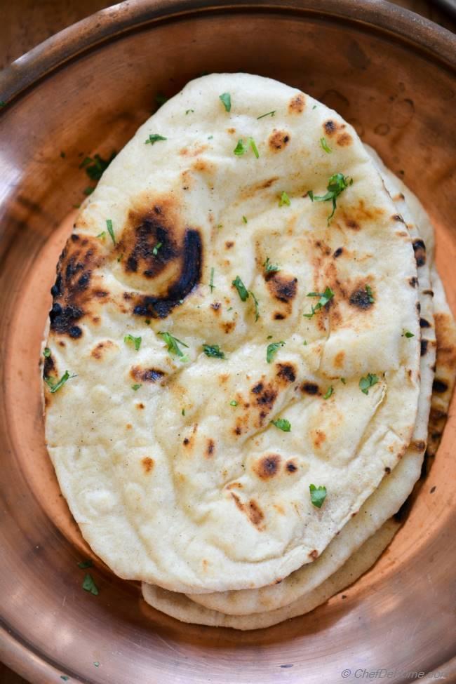 homemade indian butter naan recipe | chefdehome